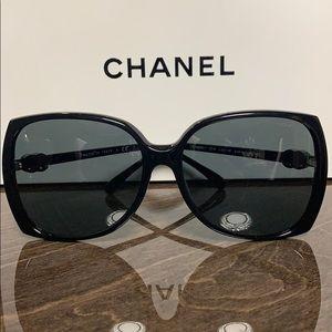CHANEL Black 5216 Square Sunglasses